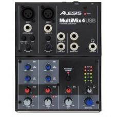 ALESIS MULTIMIX 4 USB FX четырехканальный настольный микшер с USB
