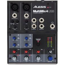 ALESIS MultiMix 4USB компактный 4-канальный аналоговый микшер
