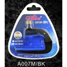Alice A007M/BK Каподастр для акустической гитары, черный