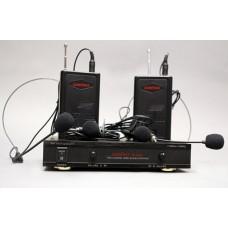 AUDIOVOICE WL-22HPM - радиосистема с двумя головными и петличными микрофонами