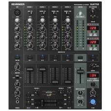 Behringer DJX750 - микшер для DJ, 5 вход. канала (4 стерео, плюс микрофонный),эквалайзер