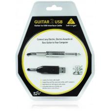 Behringer GUITAR2USB - гитарный USB-аудиоинтерфейс (кабель), 44.1кГц и 48 кГц, длина 5 м.