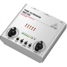BEHRINGER MIC100 - ламповый микрофонно-линейный предусилитель