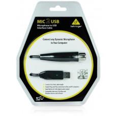 Behringer MIC2USB - звуковой USB-интерфейс для профессиональных динамических микро