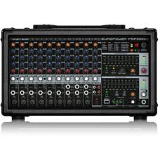 Behringer PMP2000D - микшер-усилит, 2x500 Вт на 8 Ом (2 x 1000 Вт на 4 Ом),14 каналов