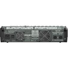 Behringer PMP4000 - микшер-усилит,2x300 Втна8 Ом (2x600 Вт на 4 Ом), 1200 мост 8 Ом, 8 моно/4 стерео