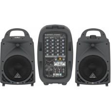 Behringer PPA500BT - 6-канальная портативная система звукоусиления, 2х250Вт 4Ом, 2х160Вт 8Ом, DSP