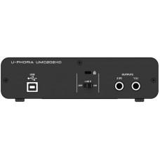 BEHRINGER UMC202HD внешний интерфейс USB для записи и воспроизведения звука (PC / MAC)