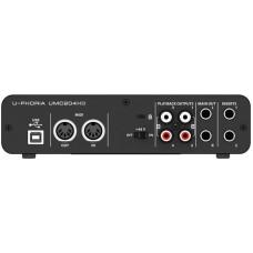 BEHRINGER UMC204HD внешний USB / MIDI интерфейс для записи и воспроизведения звука на PC или MAC