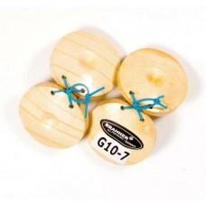 BRAHNER G10-7 - кастаньеты пара, деревянные, 6 см