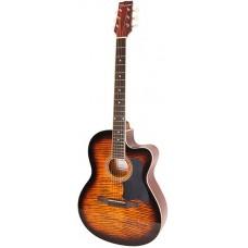 Caraya C901T BS Акустическая гитара, с вырезом, санберст