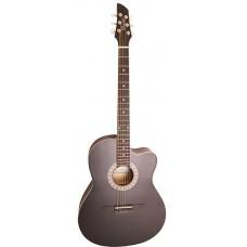 Caraya C931 BK Акустическая гитара, с вырезом, черная