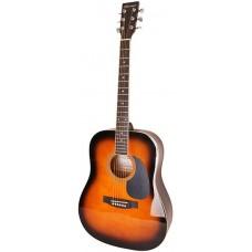 Caraya F600 BS Акустическая гитара, санберст