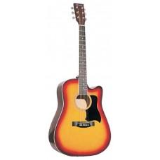 Caraya F601 BS Акустическая гитара, с вырезом, санберст