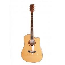 Caraya F668C N Акустическая гитара, с вырезом, цвет натуральный