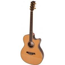 CARAYA SP50 C Акустическая гитара, с вырезом, цвет натуральный