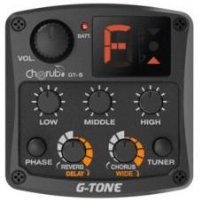 Cherub GT-6 Гитарный эквалайзер цифровой 3-х полосный с тюнером и эффектами