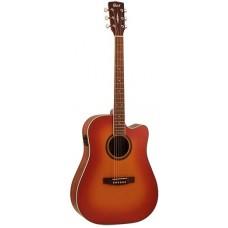 Cort AD890CF LVBS Standard Series Электроакустическая гитара, с вырезом, санберст