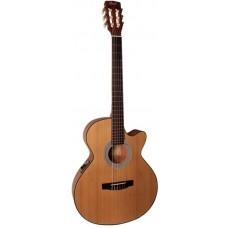 CORT CEC1 OP электроакустическая гитара с нейлоновыми струнами, с вырезом