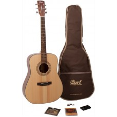 CORT EARTH PACK-NS комплект: акустическая гитара EARTH, чехол + аксессуары