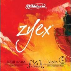 D'ADDARIO DZ311 4/4M Zyex, струна скрипичная 4/4 medium, E