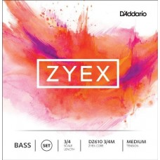 D'ADDARIO DZ610 3/4M - струны для контрабаса серия ZYEX, medium tension, 3/4