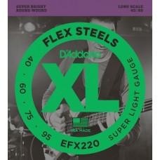 D'ADDARIO EFX220 струны для бас гитары, Super Light, 40-95