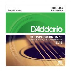 D'ADDARIO EJ18 - струны для акустической гитары, 14-59