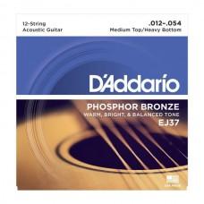 D'ADDARIO EJ37 - струны для 12-струнной гитары, 12-54