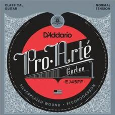 D'ADDARIO EJ45FF струны для классической гитары, карбон, Normal Tension