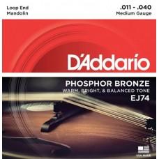 D'ADDARIO EJ74 струны для мандолины, 11-40