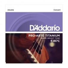 D'ADDARIO EJ87C струны для укулеле Concert, серия Titanium