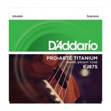D'ADDARIO EJ87S струны для укулеле сопрано, серия Titanium