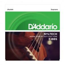 D'ADDARIO EJ88S струны для укулеле сопрано, серия Nyltech