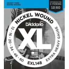 D'ADDARIO EXL148 струны для электрогитары Extra Heavy 12-60