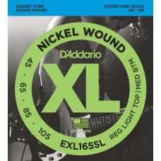 D'ADDARIO EXL165SL - струны для бас-гитары, 45-105