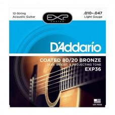 D'ADDARIO EXP36 - струны для 12- струнной гитары, 10-47