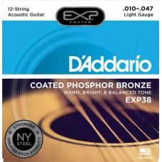 D'ADDARIO EXP38 - струны для 12- струннной гитары, 10-47