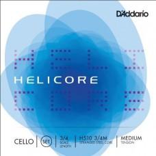 D'ADDARIO H510 3/4M helicore cello set medium 3/4 струны для виолончели
