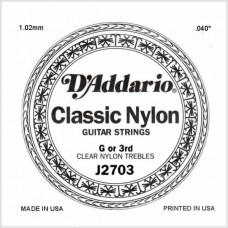 D'ADDARIO J2703 - 3-я одиночная струна для классической гитары, нейлон