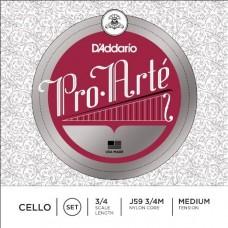 D'ADDARIO J59 3/4M Pro-Arte струны для виолончели 3/4 Medium