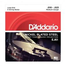 D'ADDARIO EJ61 струны для банджо 10-23