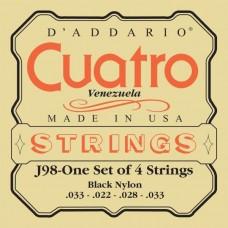 D'ADDARIO J98 струны для cuatro