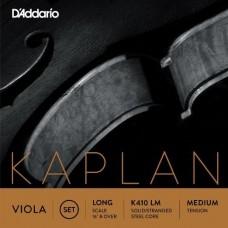 D'ADDARIO K410 LM - струны альтовые, KAPLAN, Medium, Long Scale