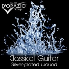D'ORAZIO 6236 Silverplated CRYSTAL NYLON BALL END - Струны для классической гитары