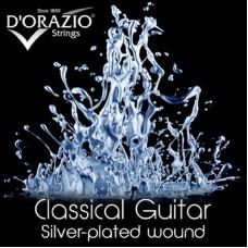 D'ORAZIO 641 Silverplated BLACK NYLON - Струны для классических гитар