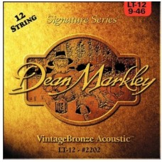 DEAN MARKLEY 2202 Vintage Bronze LT -струны для 12-струн. акустич. гитары (85% медь,15% цинк)