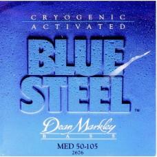 DEAN MARKLEY 2676 Blue Steel Bass MED - струны для 4-стр. бас-гит. (нержав, заморозка) толщина 50-10