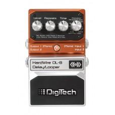 DIGITECH HARDWIRE DL-8 STEREO DELAY / LOOPER гитарная педаль эффектов стерео delay