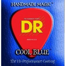 DR CBA-11 (11-50) EXTRA-Life - струны для акустической гитары, цветные, COOL BLUE